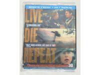 DVD 3D FILM MOVIE BLURAY LIVE DIE REPEAT EGDE OF TOMORROW BLU-RAY 2014 CRUISE.⭐️