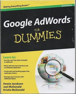 Google Adwords For Dummies   3Rd Edition   Howie Jacobson   Sc  2012 Wiley Press