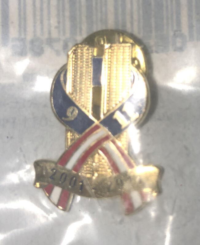 Blackinton 9/11/2001- World Trade Center American Flag Patriotic Lapel / Hat Pin