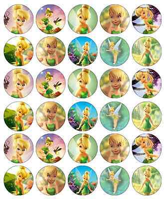 ey Cupcake Toppers Edible Wafer Paper Fairy Cake Toppers (Tinkerbell Cupcake Toppers)