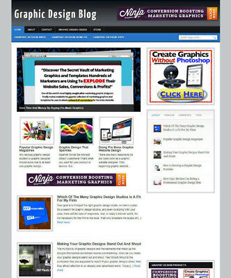 Graphic Design Website Blog With Multi Affiliates New Domain Hosting