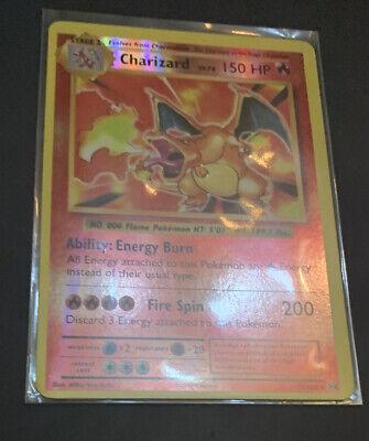 POKEMON: CHARIZARD 11/108 - REVERSE HOLO RARE CARD - XY EVOLUTIONS - NM OC ERROR