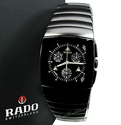 Brand New RADO Sintra Chrono R13764152 Matte Black Ceramic Men's Watch
