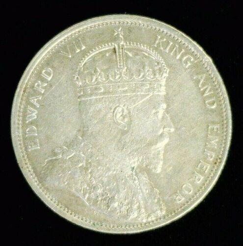 1904 STRAITS SETTLEMENTS SILVER DOLLAR AU/BU SCRATCH    (9605)
