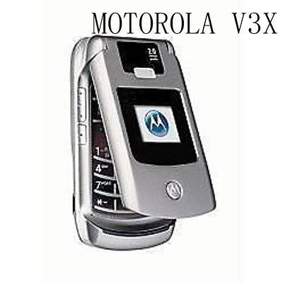 Motorola Razr v3x Flip Cellphone Camera Bluetooth Mobile Phone Original Unlocked Razr V3x Mobile