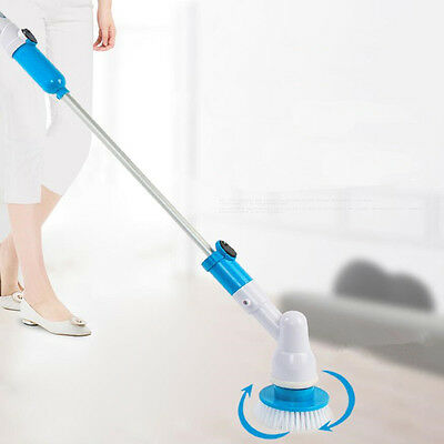High Spin 360 Turbo Scrub Cordless Rotating Head Handheld Cleaning Brush USB NEW