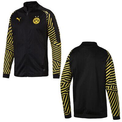 Puma Borussia Dortmund BVB Mens Stadium Jacket Training Top Black 753352 02 P2B