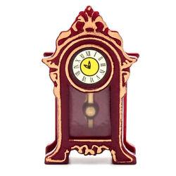 Dollhouse Miniature Vintage Desk Table Clock 1:12 Furniture Mantle Clock Decor