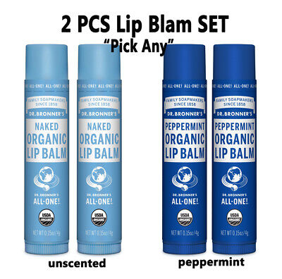 Dr. Bronners Magic Organic Lip Balm Naked Peppermint