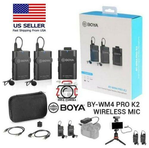 BOYA (BY-WM4 Pro K2) Two-Person Wireless Omni Lavalier Microphone System 2.4GHz