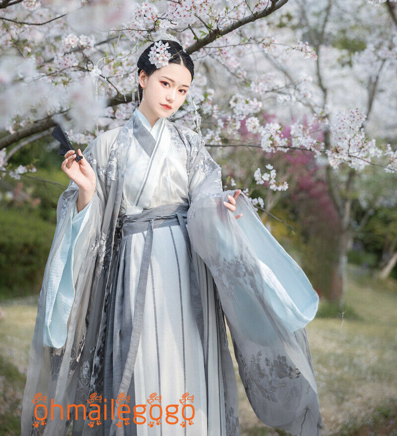 Hanfu Women/'s Dress Inner Tops Skirt Coat Embroidery Chinese Cosplay Party Dress