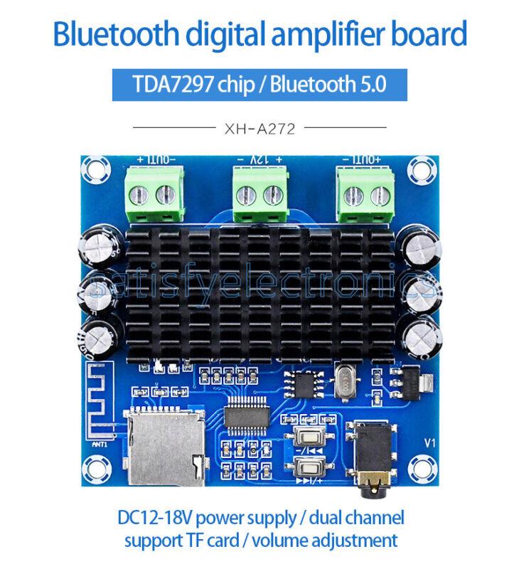 1PCS 2x15W  Bluetooth 5.0 TDA7297 Card for Digital Power Amplifier Module