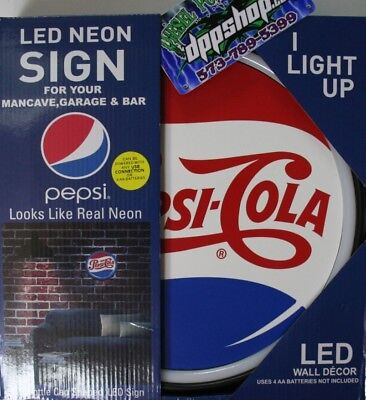 """PEPSI Cola LED Neon Lighted Sign 17/"""" Marquee For Home//Garage//Bar//Man Cave"""