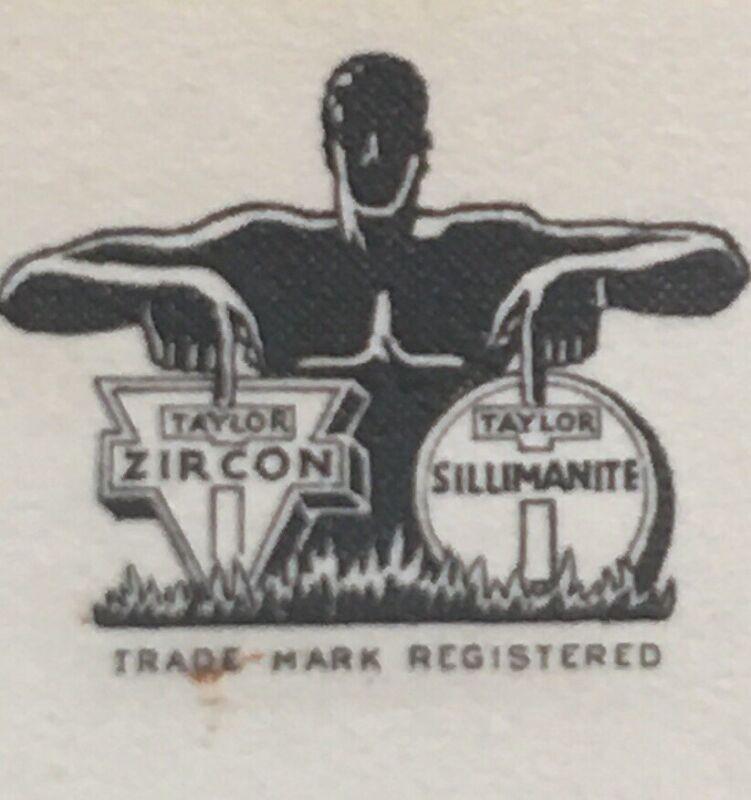 Antique VTG Business Card Lead ZIRCON Co. Ohio Henry Calnen Art Deco Design