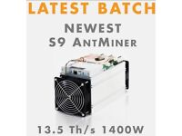 ****Sold**** Antminer S9 Brand New