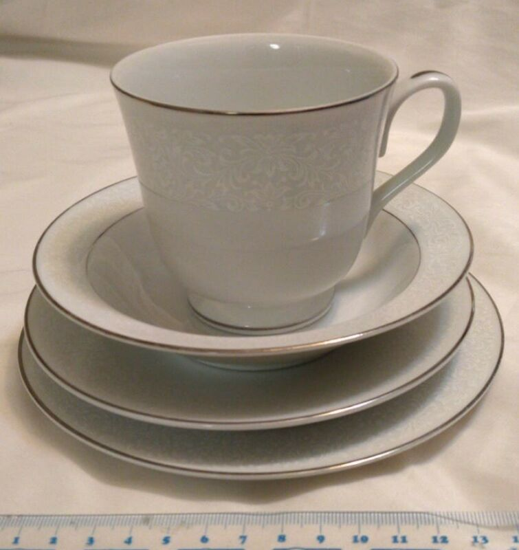 Four Piece Empress Cup & Saucer by Crown Victoria -Japan
