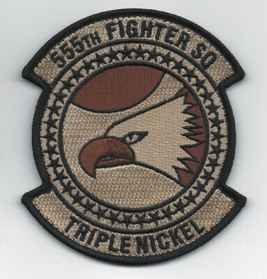 USAF Patch 555th FIGHTER SQ, in DEPLOYED Colors for Khaki Fit Suits. 4