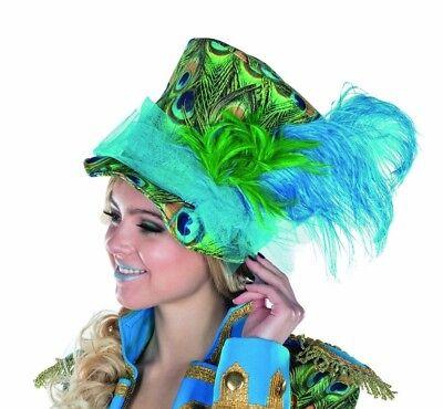Mottoland 414450 - Pfau * Kostüm Zubehör *  Hut, Mütze, Zylinder, Feder