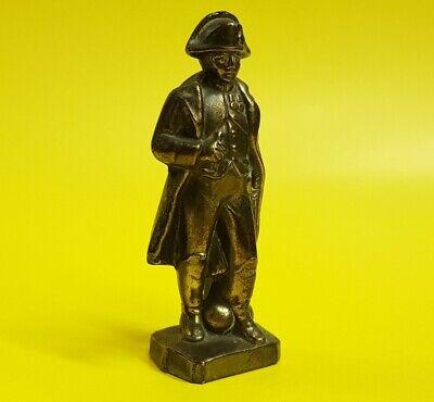 Vintage antique brass metal Napoleon Bonaparte miniature figure figurine statue