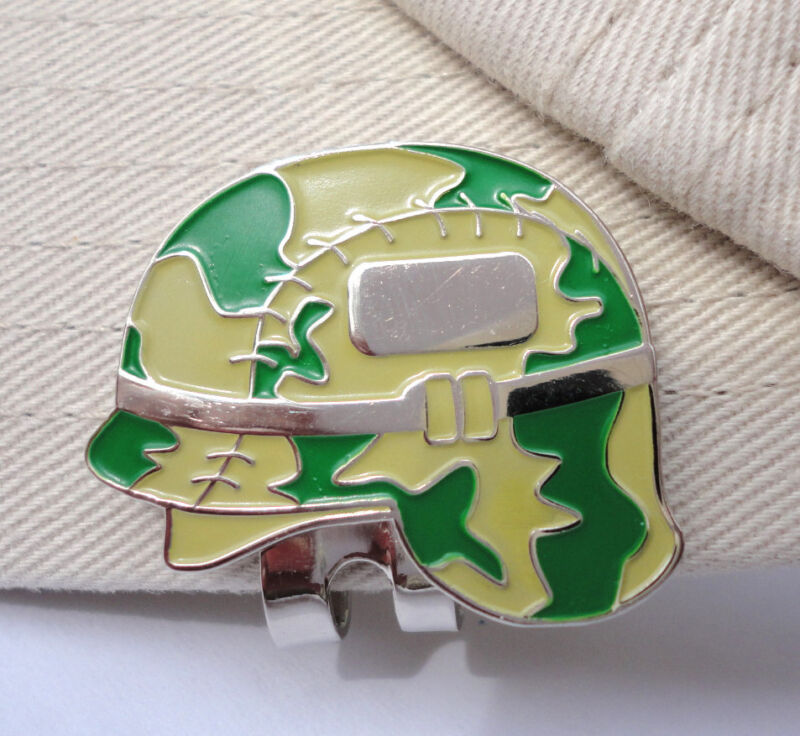 Military Helmet Golf Ball Marker & Magnetic Hat Clip