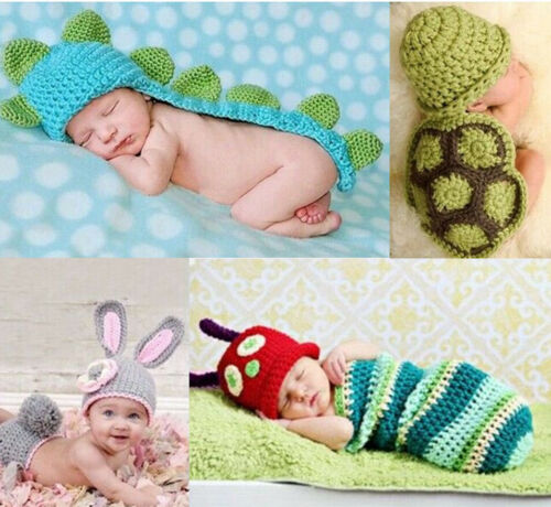 Newborn Baby Boys Girls Crochet Knit Costume Photo Photograp