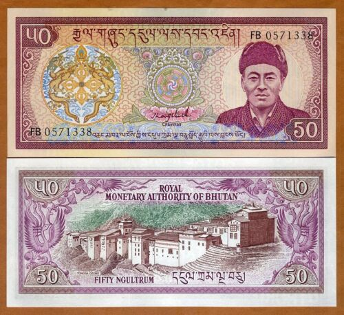 Bhutan, 50 Ngultum, ND (1992), P-17b, UNC