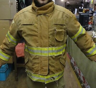 Jamesville 2000 Lg Firefighter Jacket Rescue Gear Turnout Gear Fireman
