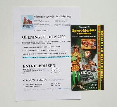 Freizeitpark - Sprookjesbos Valkenburg - Prospektmaterial - 2000