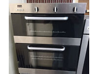 Ho24 stainless steel homeking built under double oven comes with warranty can be delivered