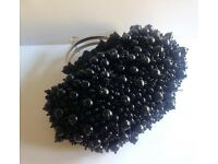 Black Beaded Vendula Handbag