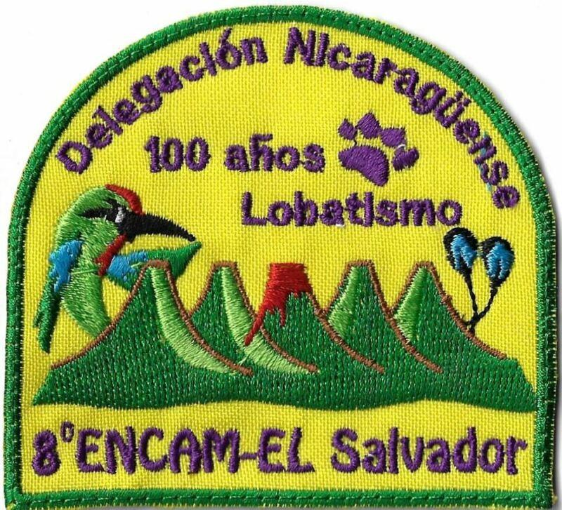 Delegacion Nicaraguense 100 anos Lobatismo 8 Encam-El Salvador GRN Bdr. [MX-1160
