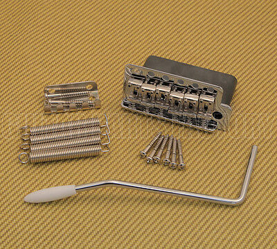 WVC-SB-CR Wilkinson Chrome 6-Hole Vintage Strat Tremolo Bridge Steel Block Trem