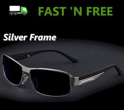 Men's Polarized Lens Sunglasses Driving Glasses + Cleaning Cloth + Hard EVA (Cleaning Polarized Lenses)