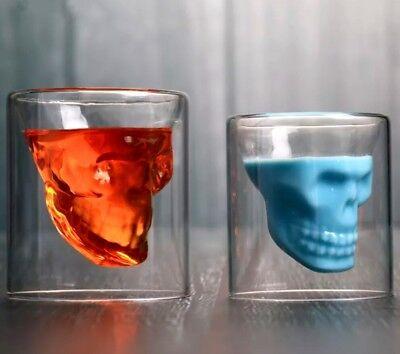 "Creativa Tiro Gafas Vaso Aperitivo ""Whiskey"" Cristal 3d Calavera Forma 25ml segunda mano  Embacar hacia Argentina"