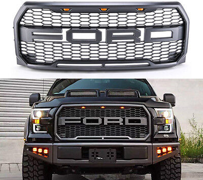 2015 2016 2017 Ford F-150 Raptor Style Conversion Grille Sport 3 Amber LED