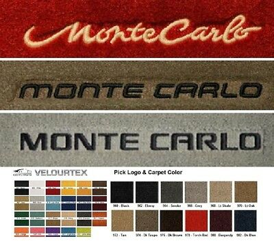 Lloyd Mats Chevrolet Monte Carlo Custom Velourtex Floor Mats (1970-2007)