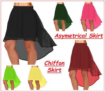Chiffon Asymmetrische Röcke Casual Vintage-Kleidung Mädchen Kostüme (Chiffon Vintage Kostüm)