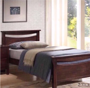 NEW DARK WOOD SINGLE BED FRAME - FACTORY SECONDS Casuarina Kwinana Area Preview