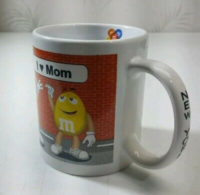 M&M CANDY Personalized New York Times Square I LOVE MOM coffee mug cup - Personalized M&m