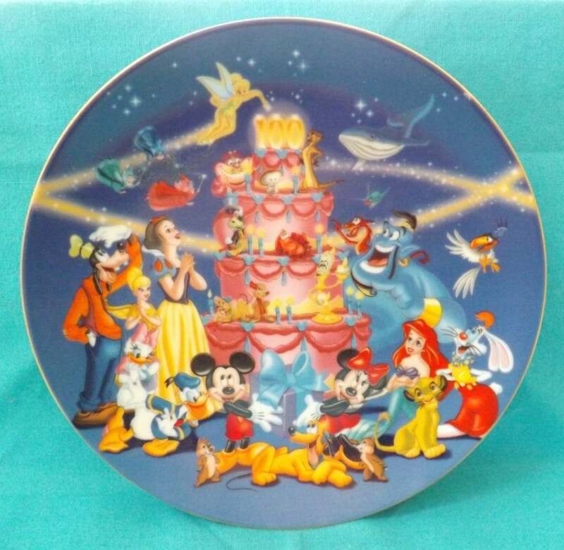 Art of Disney 100 Years of Celebration Walt Disney Imagination Characters Plate
