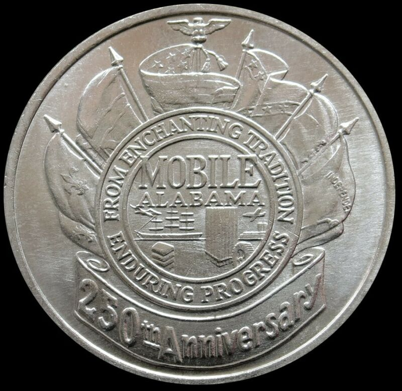 1961 SILVER MOBILE ALABAMA ANNIVERSARY SO CALLED DOLLAR HK-587