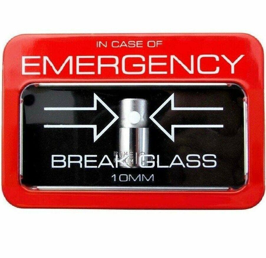 Emergency 10mm Socket In Case Of Break Glass Tool Box ...