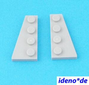 LEGO-STAR-WARS-1-Par-Placa-Ala-2-x-4-NUEVO-GRIS-CLARO-41769-41770-NUEVO