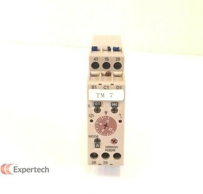 Omron H3dr-a Analog Timer With 6 Ranges Used