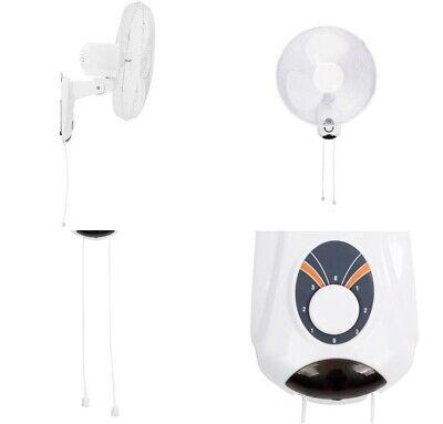 Ventilador de pared oscilante 3 Velocidades,45W,Diametro 45 cm,angulo ajustable