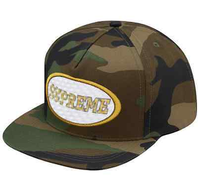 SUPREME Overlay 5-Panel Woodland Camo Hat SS F/W16