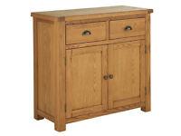 Heart of House Kent Solid Oak & Oak Veneer Small Sideboard