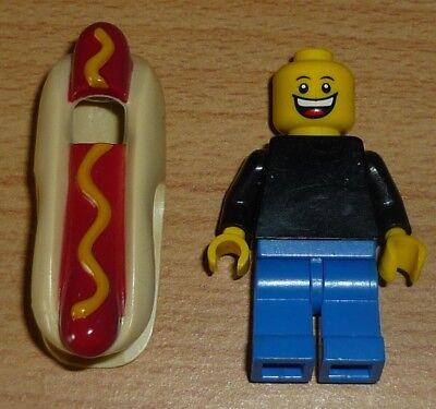 Lego City 1 Figur im Hot Dog Kostüm + 2 (Hot Dog Kostümen)
