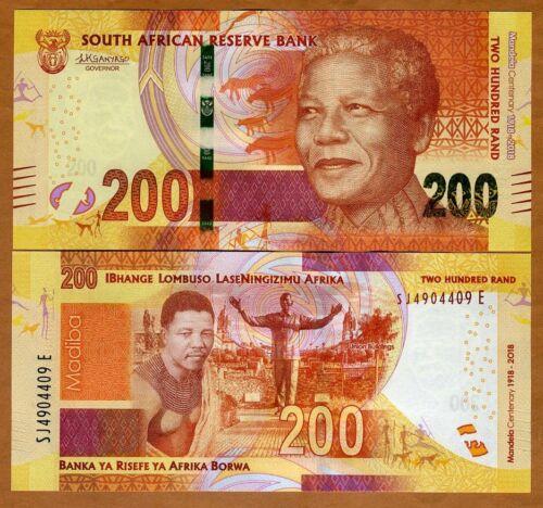 South Africa, 200 rand, 2018, P-New UNC > Mandela, Commemorative