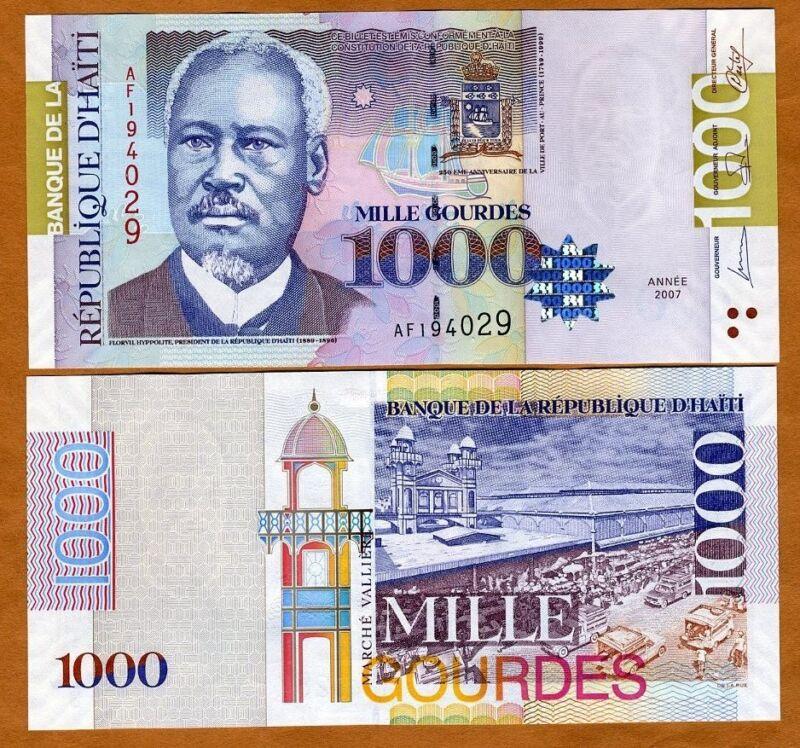 Haiti, 1000 Gourdes, 2007, P-278c, UNC